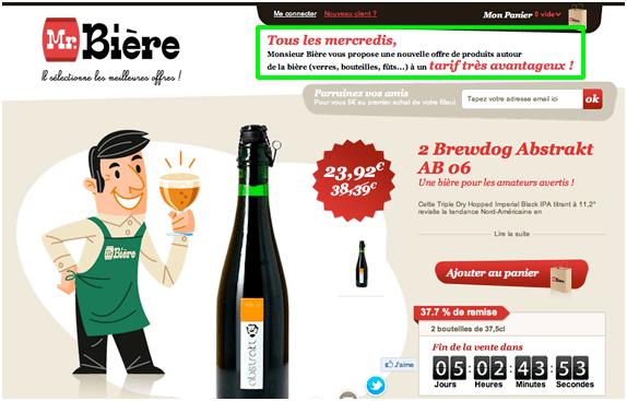Proposition de valeur site Mr Bière