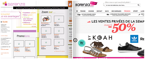 Sarenza | 2005 - 2013