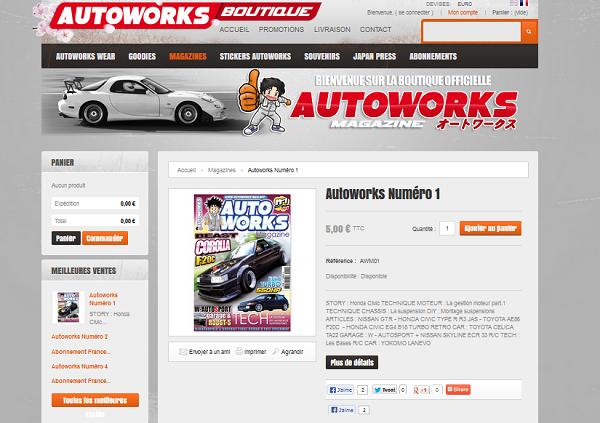 page produit autoworks