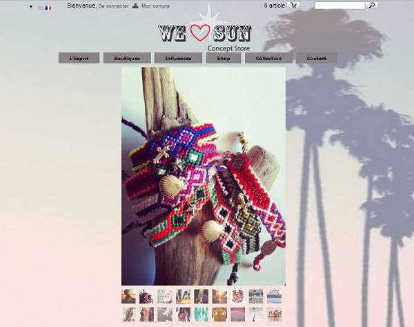 boutique en ligne We love sun