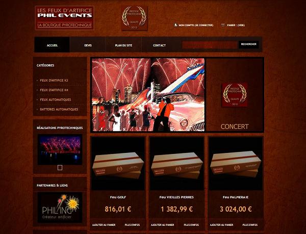 Page d'accueil beau site e-commerce
