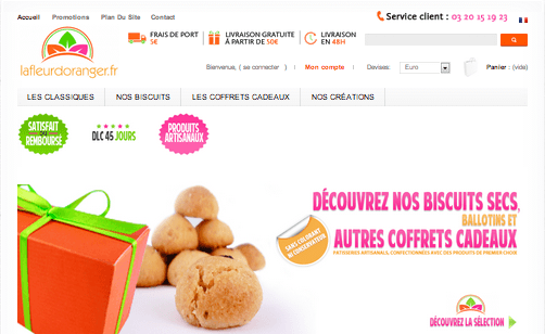 vente nourriture internet boissons