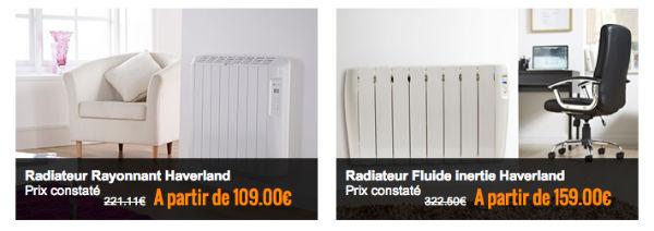 La boutique radiateurelectriques.fr met les prix cassés en avant sur sa boutique