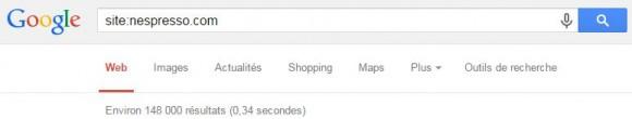 Pages indexées d'un site e-commerce