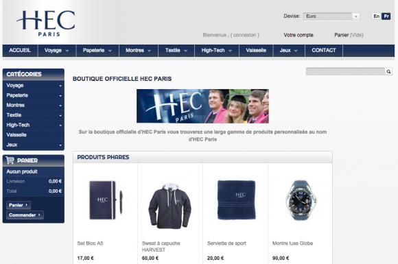 HEC template boutique en ligne
