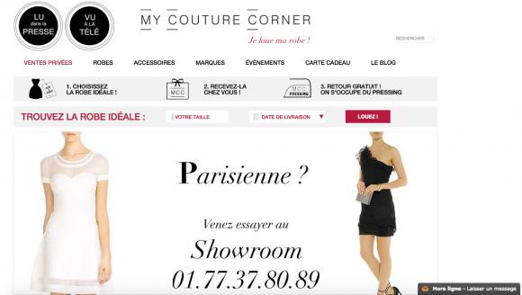boutique en ligne de location de robes