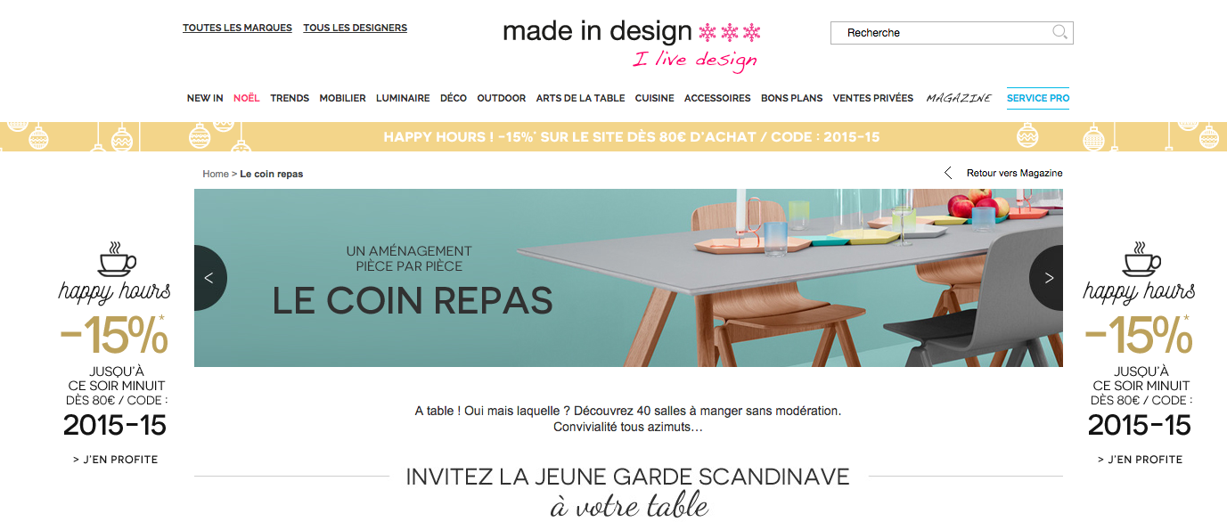 Reductions permanentes chez Made in Design