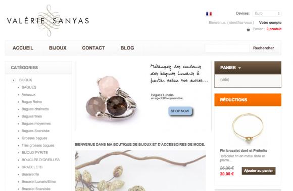 Valérie Sanyas, boutique Clicboutic de vente de bijoux