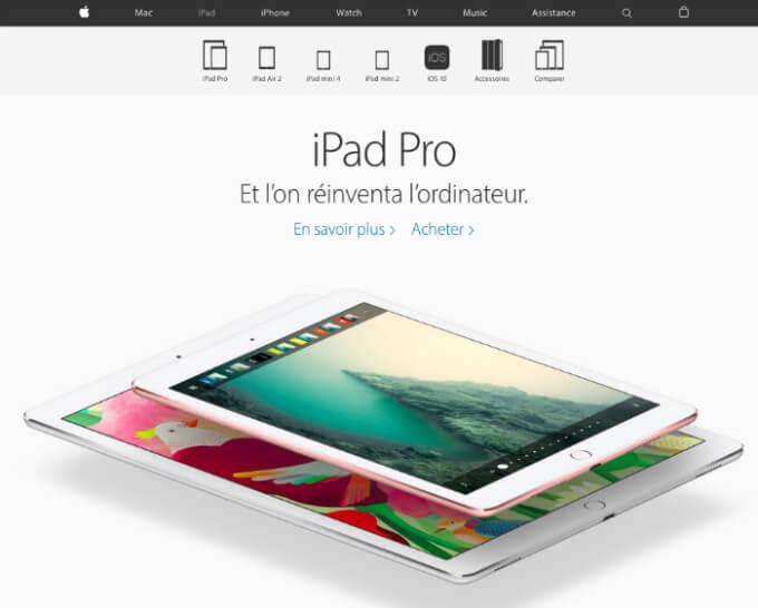 Avec 50 000 employés Apple n'a rien d'une petite boutique mais ils savent certainement comment concentrer notre attention sur leurs produits en s'appuyant sur un design simple et épuré.
